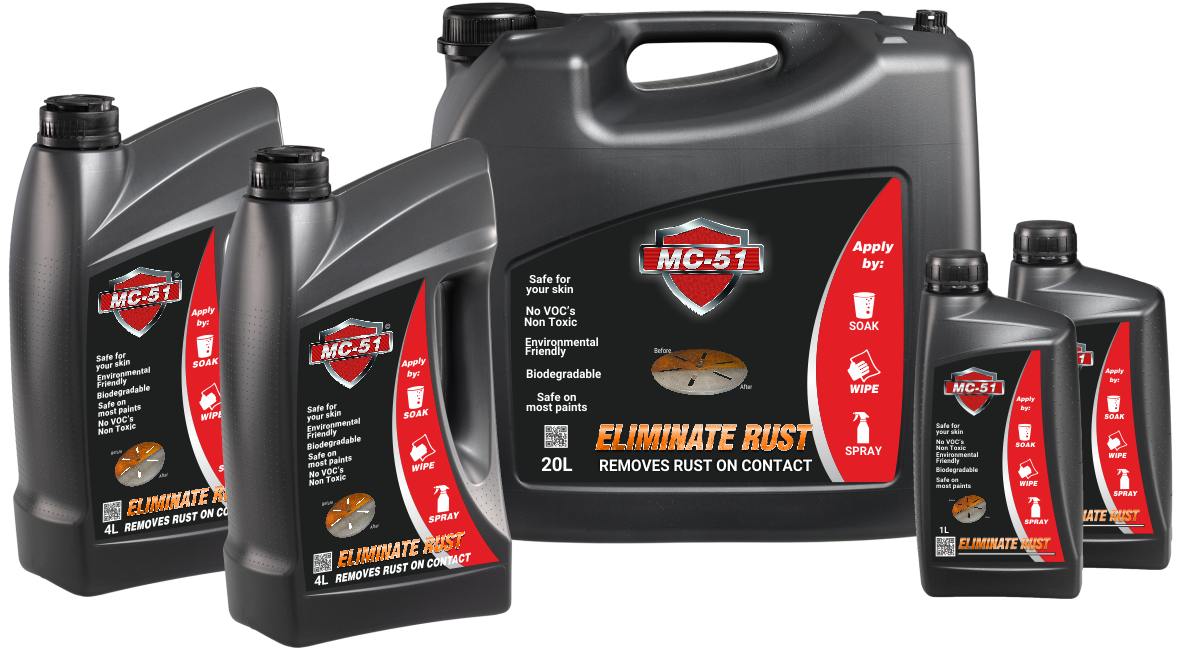 MC-51 Rust remover Packaging