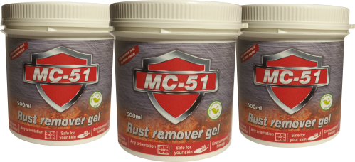 3 Jars of Rust Remover Gel-MC-51
