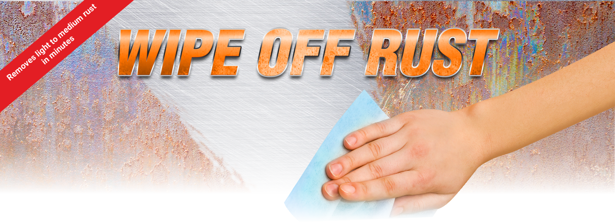 Remove rust in minutes- MC-51 wet wipes