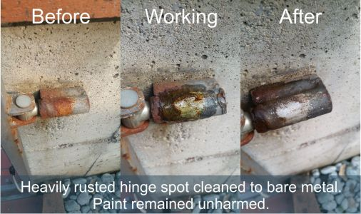 Rusted hinge cleaning